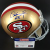 NFL - 49ERS WR DANTE PETTIS SIGNED PROLINE HELMET