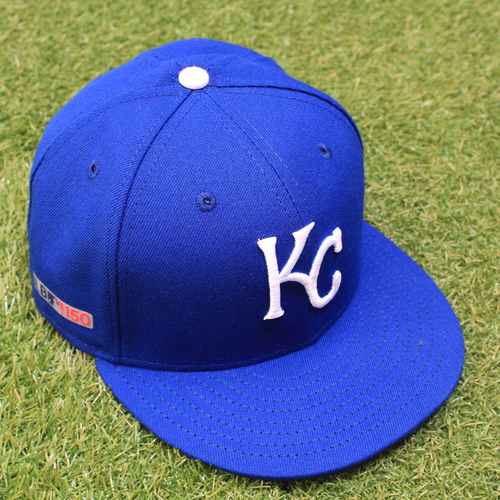 Photo of Game-Used Opening Day Cap: Jorge Lopez (Size 7 - CWS @ KC - 3/28/19)
