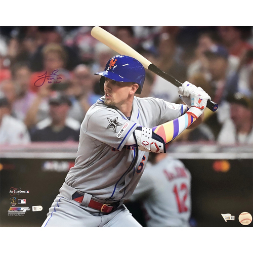 "Photo of Jeff McNeil - Autographed 16x20 Photo - Inscribed ""2019 NL All Star"""
