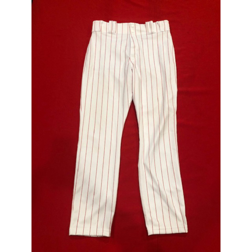 Photo of Joey Votto -- Game-Used 1995 Throwback Pants (Starting 1B: Went 2-for-4, R) -- D-backs vs. Reds on Sept. 8, 2019 -- Pants Size 35-42-34