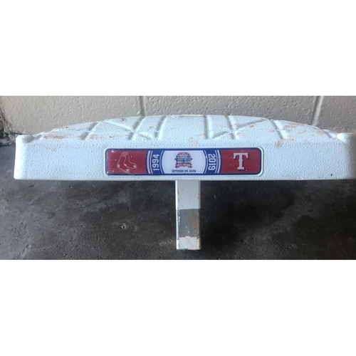 Photo of Game-Used Base - 9/26/19 BOS @ TEX - Second Base Used 1st-3rd Innings