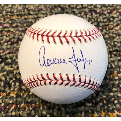 Photo of Buster Posey BP28 Foundation - Autographed Baseball signed by New York Yankees Right Fielder #99 Aaron Judge