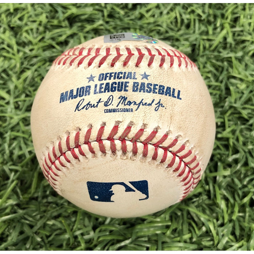 Photo of Game Used Baseball: Michael Perez double off Chris Devenski - March 30, 2019 v HOU