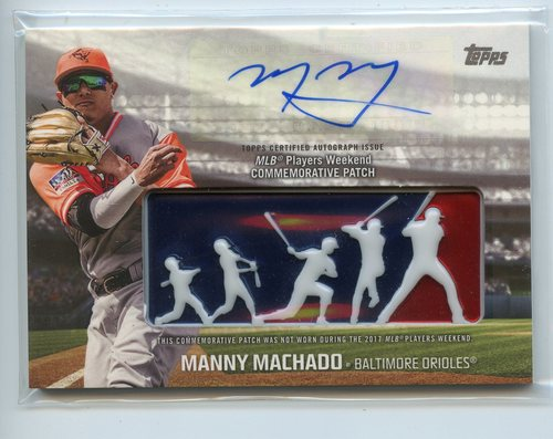 Photo of 2018 Topps Players Weekend Patch Autographs #PWPAMM Manny Machado 3/5