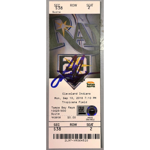 Photo of Rays Baseball Foundation: Ji-Man Choi Autographed Walk-Off Home Run Game Ticket - September 10, 2018 v CLE