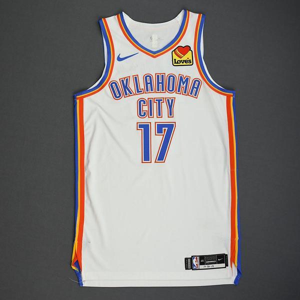 Image of Dennis Schroder - Oklahoma City Thunder - Game-Worn Association Edition Jersey - 2019-20 NBA Season