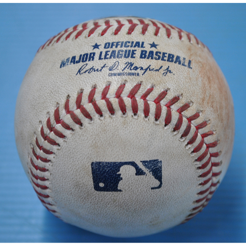 Photo of Game-Used Baseball - CHI at PIT - 9/2/2020 - Pitcher - Joe Musgrove, Batter - Anthony Rizzo (CHI), Top 4, Double