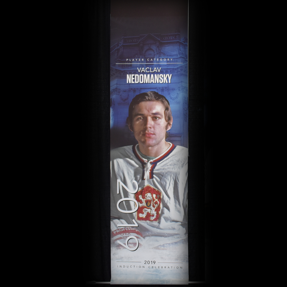 Václav Nedomanský Book Signing Stage Banner - 2019 Induction Weekend - Limited Edition 1/1