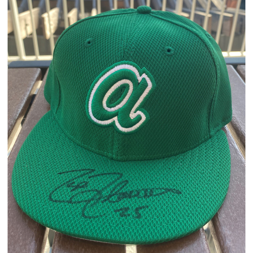 Photo of Tyler Flowers Autographed St. Patrick's day Hat