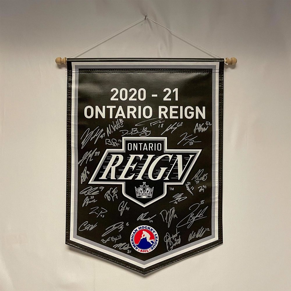 2020-21 Ontario Reign Team-Signed Banner