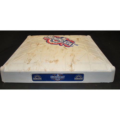 Photo of Game-Used Base - 4/8/16 - SD at COL - 2nd Base, Inning 1 - Opening Day