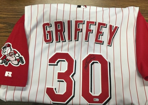 quality design 1097f b9525 MLB Auctions | Ken Griffey Jr. Autographed Cincinnati Reds ...