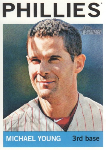 Photo of 2013 Topps Heritage #258 Michael Young