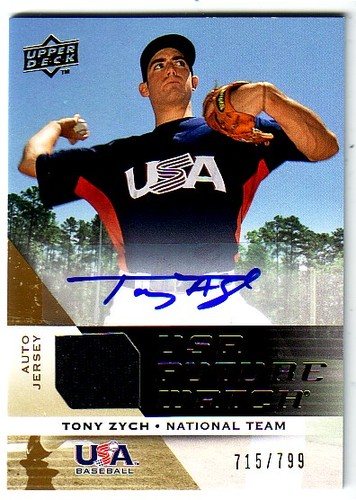Photo of 2009 Upper Deck Signature Stars USA National Team Future Watch Jersey Autographs #20 Tony Zych/799