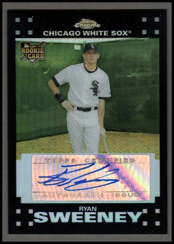 Photo of 2007 Topps Chrome Refractors #335 Ryan Sweeney AU Rookie Card AUTO #d/500 White Sox