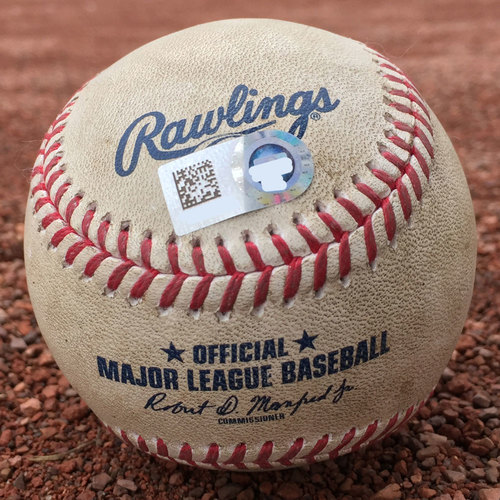 San Francisco Giants - Game-Used Baseball - Chris Stratton 1st pitch of the game on 8/5/17