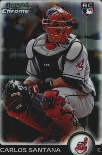 Photo of 2010 Bowman Chrome Refractors #214B Carlos Santana
