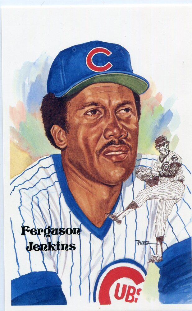 1980-02 Perez-Steele Hall of Fame Postcards #208 Ferguson Jenkins -- HOF Class of 1991
