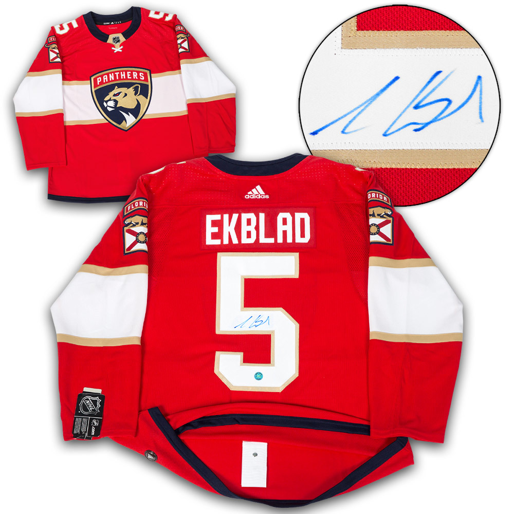 Aaron Ekblad Florida Panthers Autographed Adidas Authentic Hockey Jersey