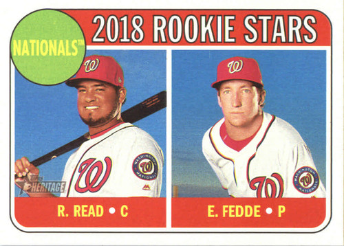 Photo of 2018 Topps Heritage #135 Raudy Read RC/Erick Fedde RC