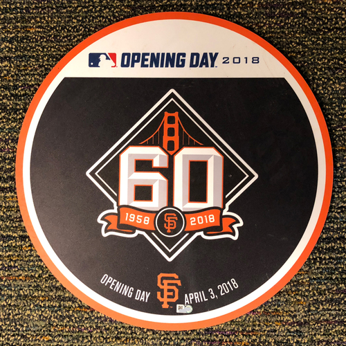 Photo of San Francisco Giants - 2018 Home Opening Day Ceremony Disc - 60th Anniversary Logo