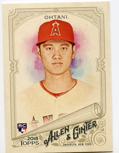 Photo of 2018 Topps Allen and Ginter #100 Shohei Ohtani RC