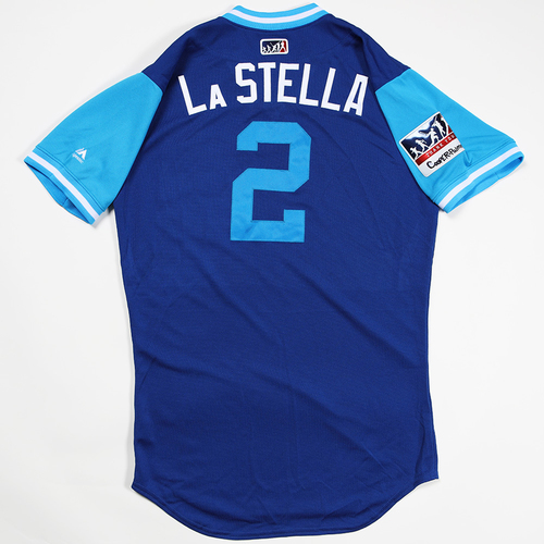 """Photo of Tommy """"La Stella"""" La Stella Chicago Cubs Game-Used 2018 Players' Weekend Jersey"""