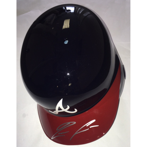 Photo of Ronald Acuna Jr. Autographed Braves Batting Helmet