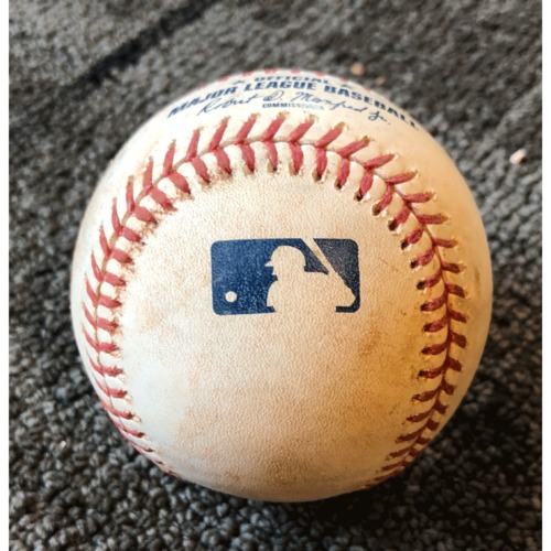 Photo of 2019 Game Used Baseball - San Francisco Giants vs. New York Yankees - 4/26/19 - B-6: Tommy Kahnle to Brandon Crawford - Ball 2. Prev. James Paxton to Yangervis Solarte - Single & Evan Longoria Strike Out