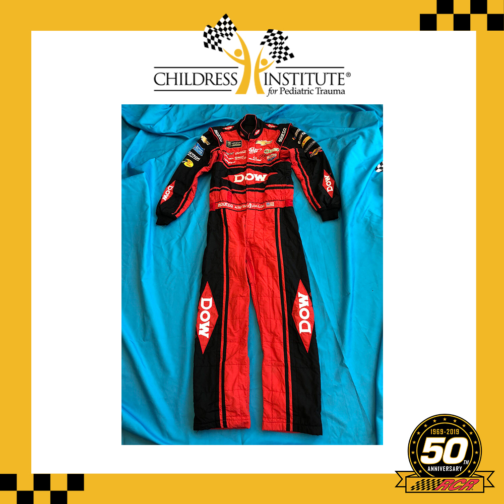 RCR 50th Autographed Austin Dillon Dow race-worn Firesuit