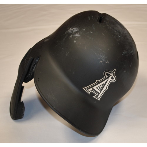 "Photo of Shohei ""SHOWTIME"" Ohtani Los Angeles Angels Game-Used 2019 Players' Weekend Helmet"