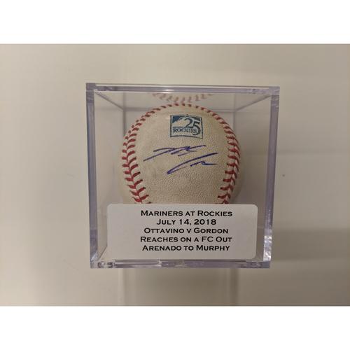 Photo of Colorado Rockies 25th Anniversary Game-Used and Autographed Nolan Arenado Baseball