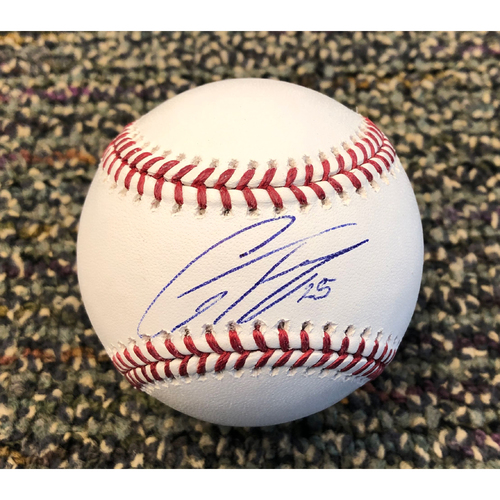 Buster Posey BP28 Foundation - Autographed Baseball signed by New York Yankees Shortstop #25 Gleyber Torres