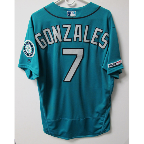 Photo of Marco Gonzales Game-Used White Jersey - Worn 5-28-2019 - Size 46
