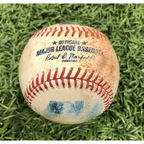 Photo of Game Used Baseball: Collin McHugh strikes out Tommy Pham - March 30, 2019 v HOU