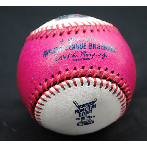 Photo of 2019 Home Run Derby (07/08/19) - Game-Used Baseball - Matt Chapman (Oakland Athletics) - Round 1, Out