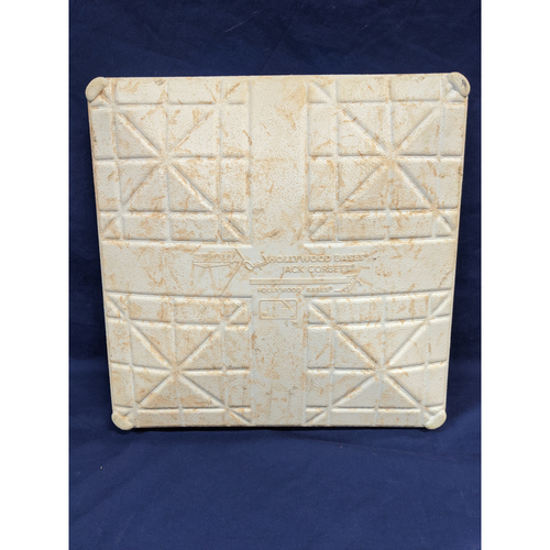 Photo of Game-Used 2nd Base: Game 1 2019 NLDS Dodgers vs. Nationals - Innings: Bottom 8 thru 9