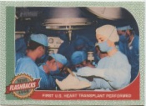Photo of 2017 Topps Heritage News Flashbacks #NF11 First U.S. Heart Transplant