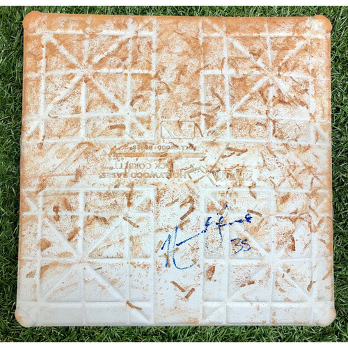 Photo of Rays Baseball Foundation: Game Used Autographed First Base (Innings 4-6) - Nate Lowe First Career MLB Home Run - July 5, 2019 v NYY