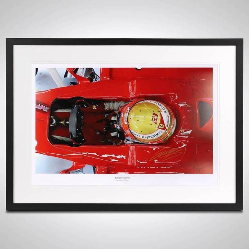 Esteban Gutierrez Framed Signed Photo - Scuderia Ferrari Edition