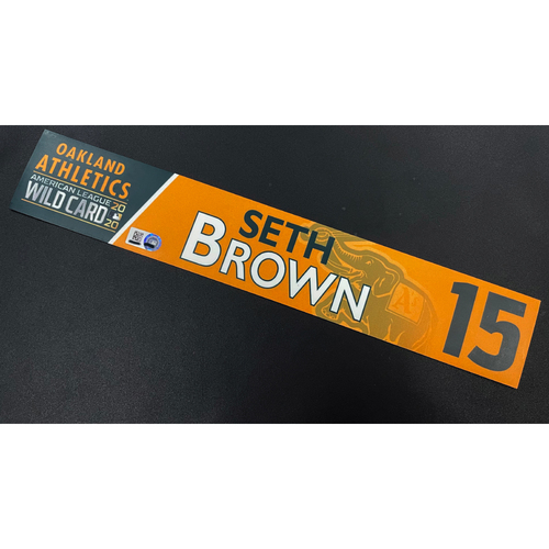 Photo of Team Issued 2020 AL Wild Card Locker Nameplate - Seth Brown
