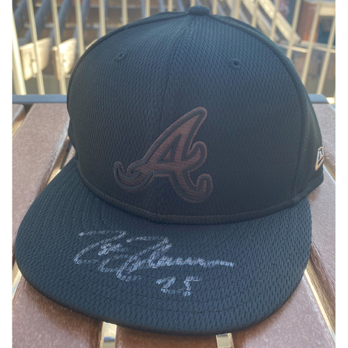 Photo of Tyler Flowers Autographed 2019 Players Weekend Hat