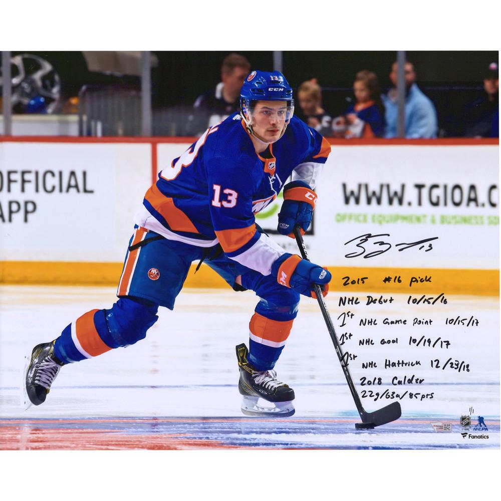 Mathew Barzal New York Islanders Autographed 16