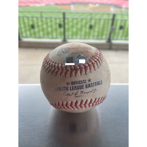 Photo of Cardinals Authentics: Game Used Baseball Pitched by Angel Rondon to Jesse Winker *Ball in dirt*