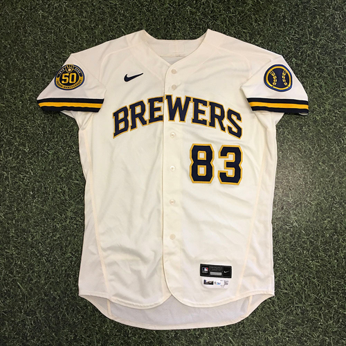 Photo of Ned Yost IV 2020 Team-Issued Home Cream Jersey