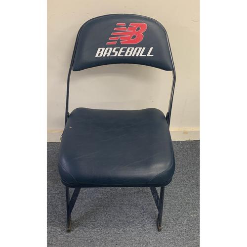 Photo of Derek Jeter August 3, 2014 Game Used Locker Chair