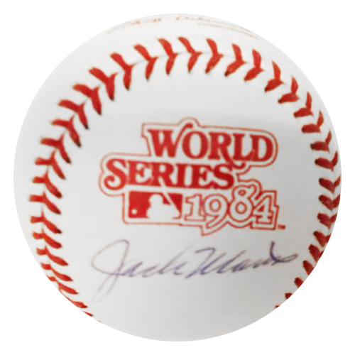 Photo of Detroit Tigers Jack Morris Autographed 1984 World Series Baseball