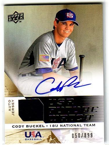 Photo of 2009 Upper Deck Signature Stars USA National Team Future Watch Jersey Autographs #23 Cody Buckel/899