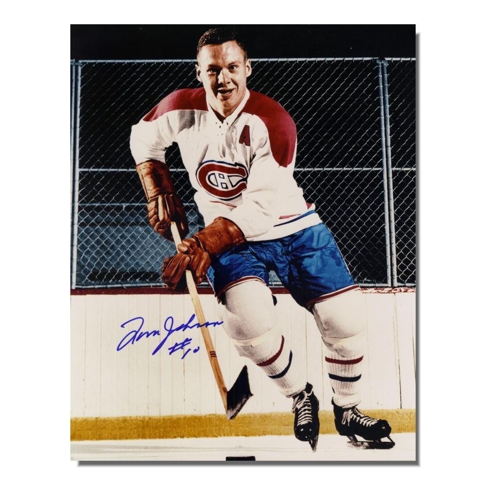 Tom Johnson Autographed Montreal Canadiens 8x10 Photo
