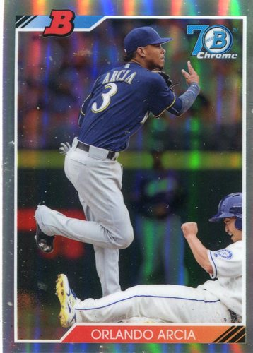 Photo of 2017 Bowman Chrome '92 Bowman Refractors #92BOA Orlando Arcia